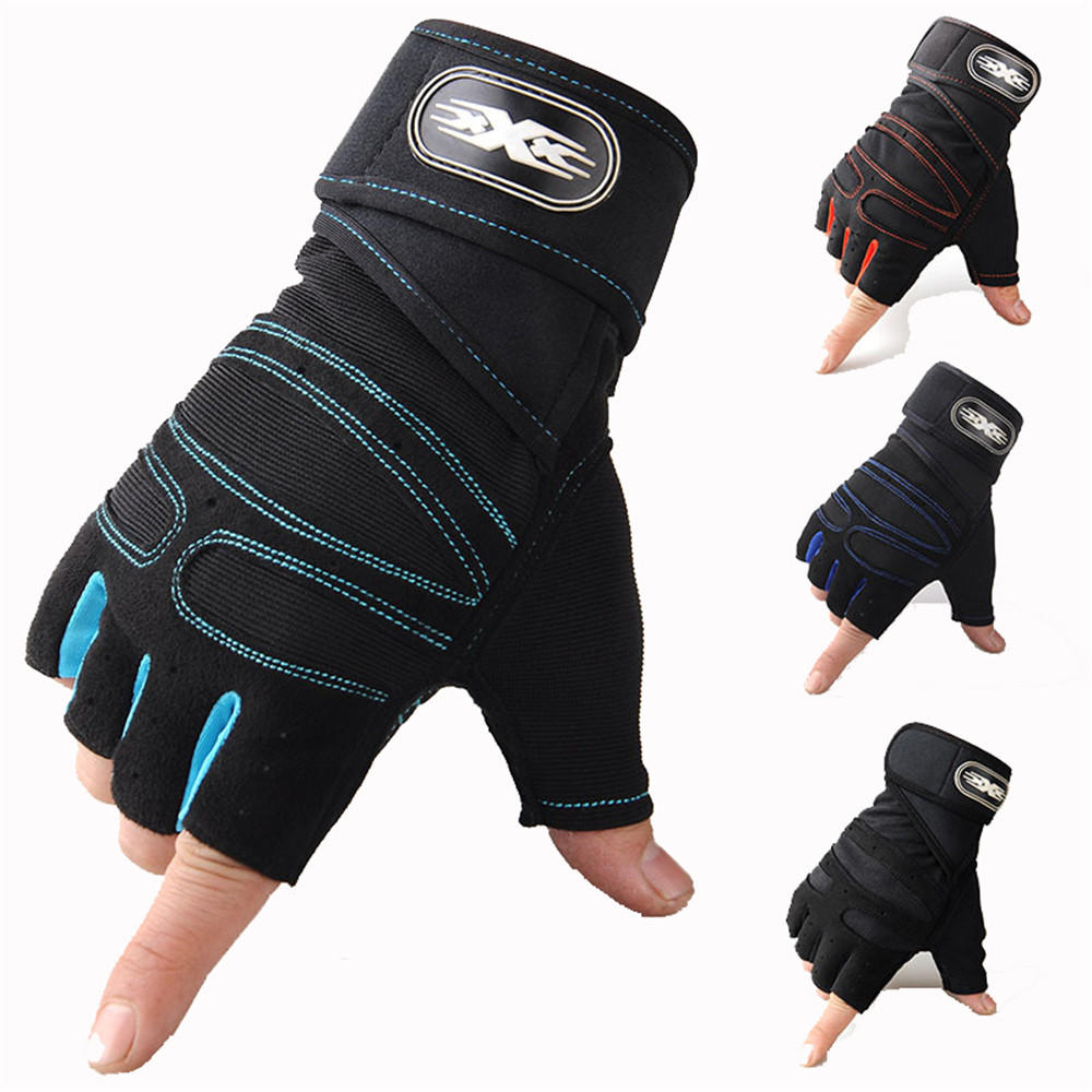 Motorcycle Riding Cycling Fitness Half Finger Protective Gloves Outdoor Anti-skid