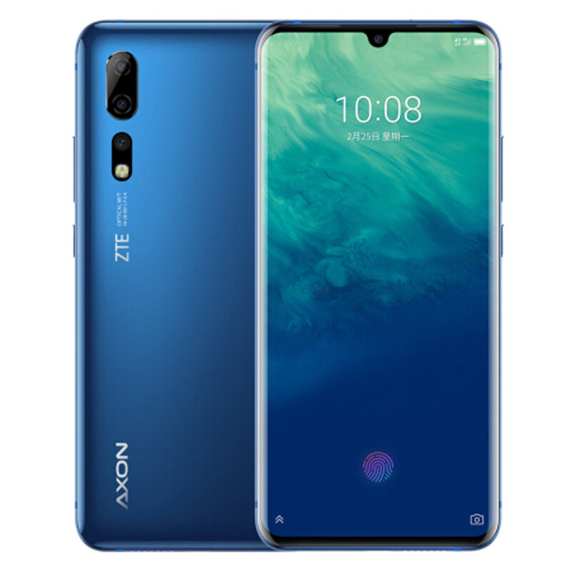 ZTE AXON 10 Pro 6.47 Inch FHD+ Waterdrop Display NFC Android P AI Triple Rear Cameras 6GB 128GB Snapdragon 855 4G Smartphone