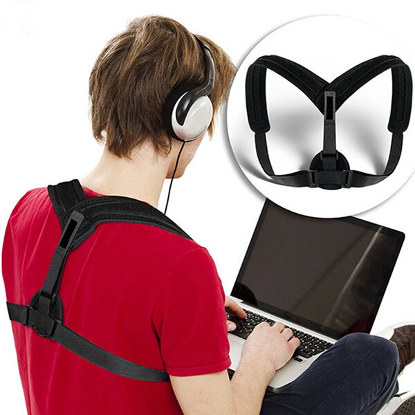 Adult Adjustable Posture Corrector Brace Shoulder Back Correction Support Belt
