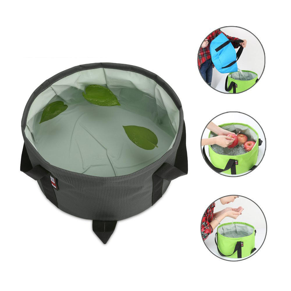 BUBM TJD Portable Folding Wash Basin Water Container Pail Collapsible Bucket for Camping Travel and Gardening