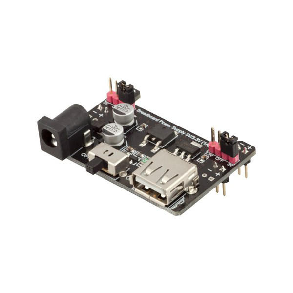 Breadboard Power Supply 5V/3.3V 1A Module Board RobotDyn for Arduino - products that work with official Arduino boards