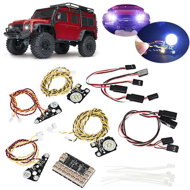17PCS LED Front Rear lights + IC Lamp Group Headlight Kit For TRAXXAS Trx4  RC Car Parts