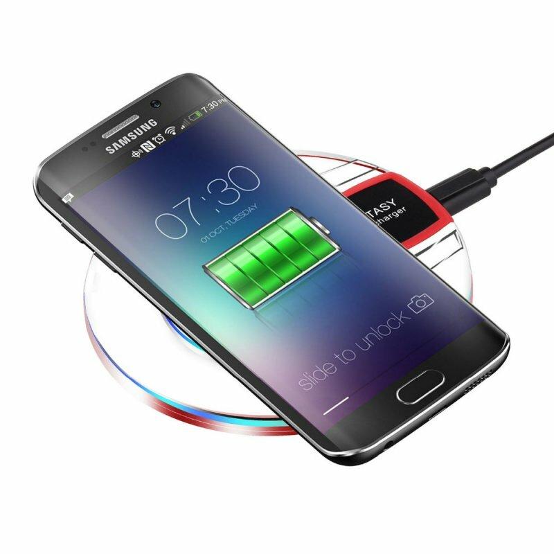 Qi Wireless Cepat Pengisian Desktop Ponsel Charger Pad untuk Samsung S8 + S7 S7 Edge