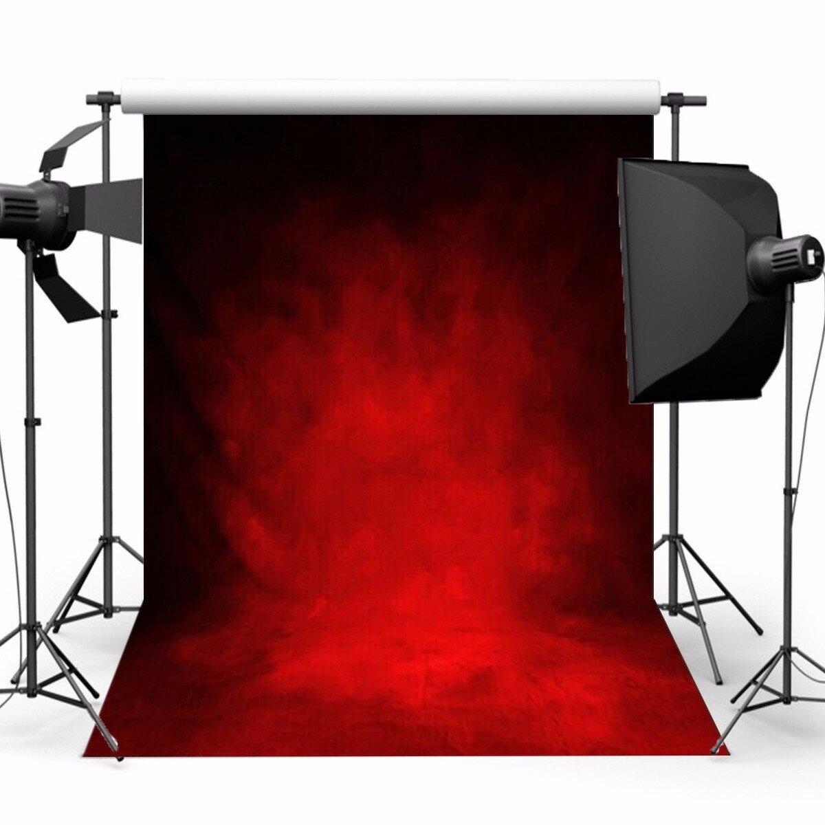 5x7ft Retro Dark Red Theme Photography Vinyl Backdrop Studio Background 2.1m x 1.5m
