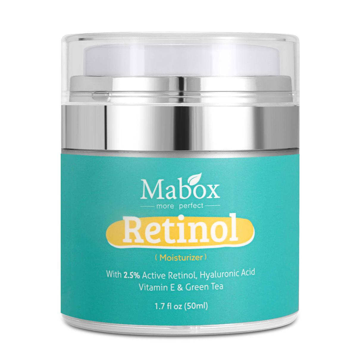 Crema humectante MABOX para el área de la cara y los ojos Anti Arrugas para el envejecimiento Acido hialurónico Vitamina 50 ml