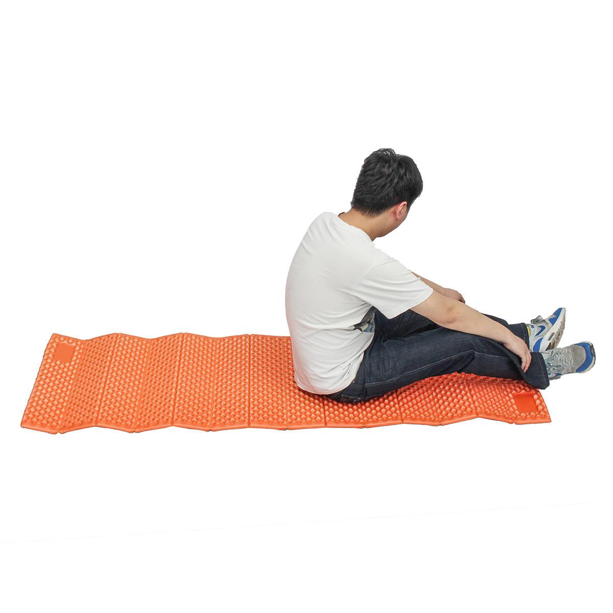 22.4x72inch Airtrack Yoga Mats Portable Ultralight Indoor Outdoor Camping Beach Sleeping Mat Picnic Moistureproof Folding Egg Slot Pad Bed