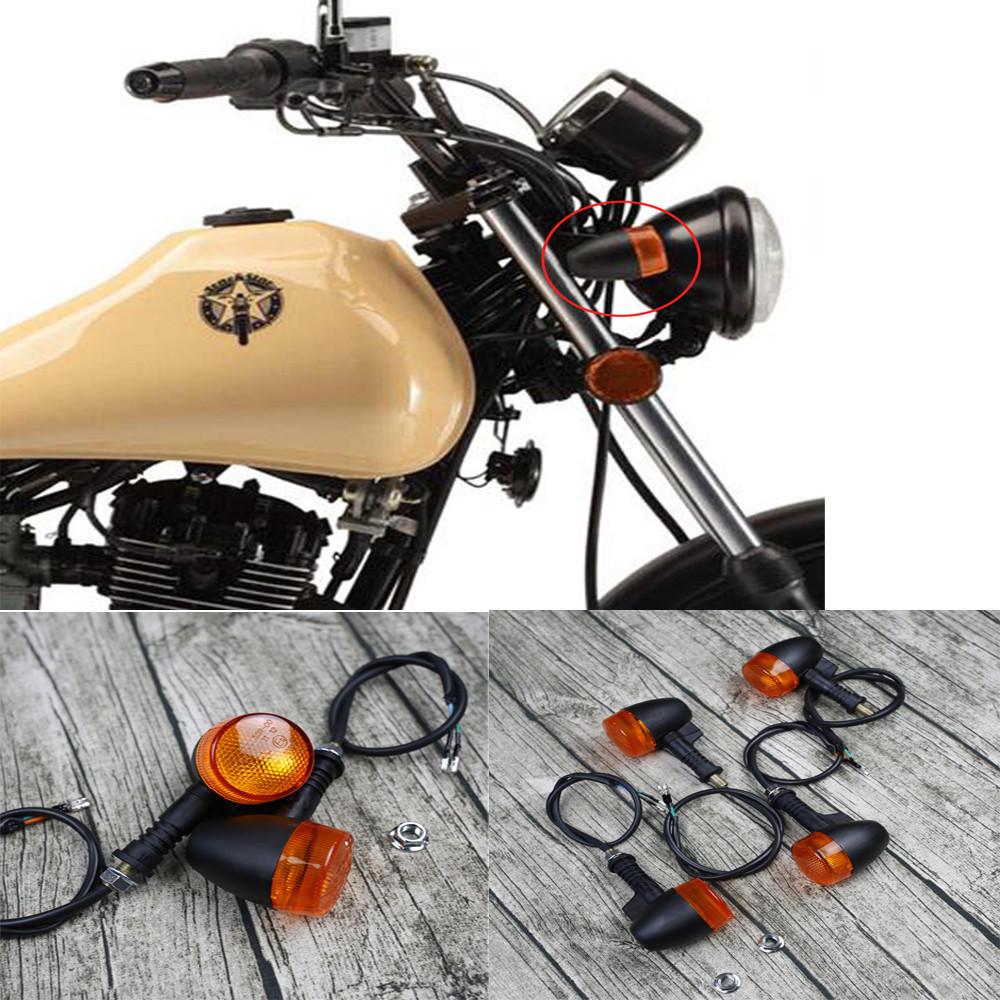Universal Retro Motorcycle Bike Flasher Black Front Rear Blinker Turn Lights Indicator, Banggood  - buy with discount