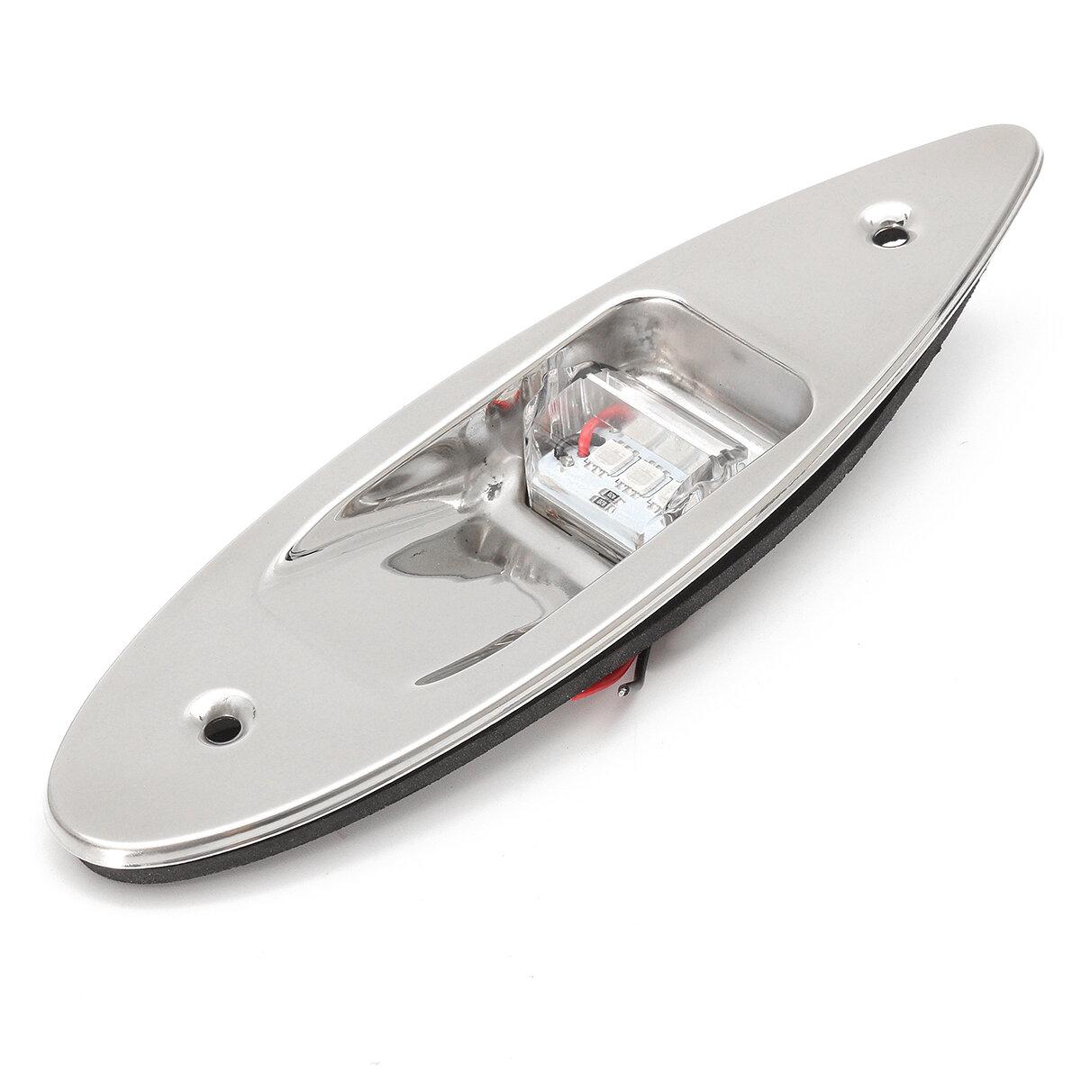 12V Rojo Verde barco Luces de Señal Laterales LED Indicador de Navegación Montaje al ras Lámpara