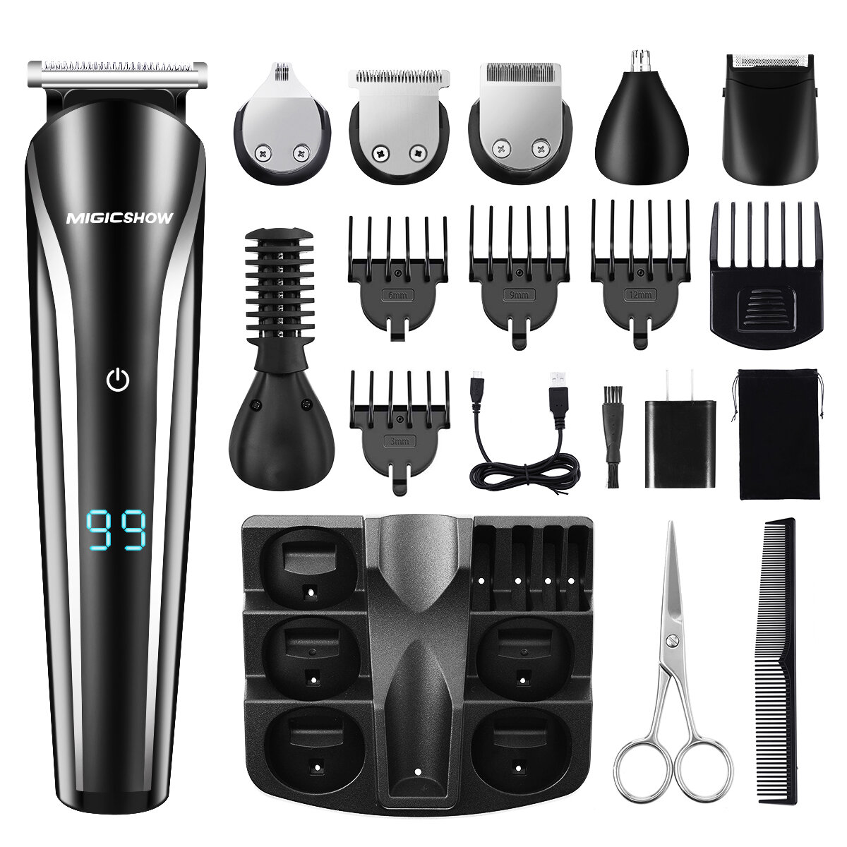 Professional Hair Trimmer Men MIGICSHOW Beard Trimmer Shaving 11 In 1 Electric...