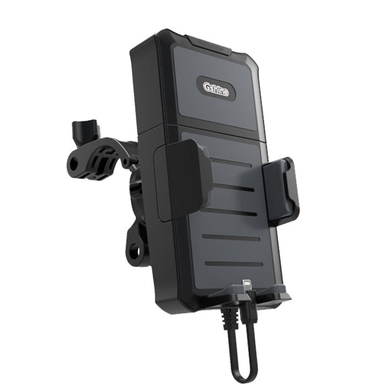 BIKIGHT 3.5-6.5inch  Waterproof Bicycle Phone Bracket 5000mAh Power Rechargeable Smart Bike Holder