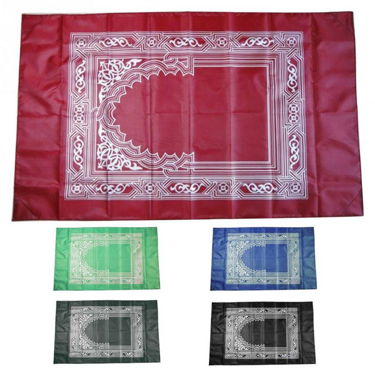 Portable Islamic Prayer Rug Teppich Easy Praying Blankets W Pocket Ramadan Islamic Decoration Gifts