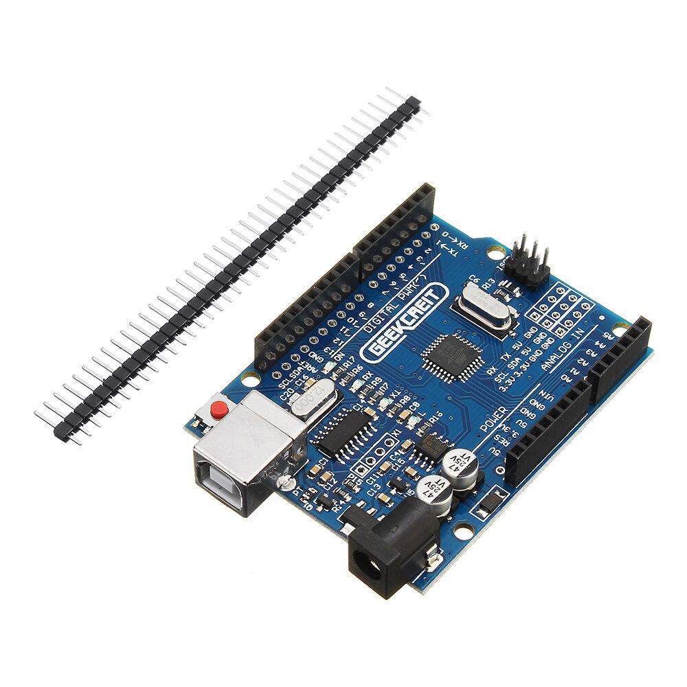 UNO R3 ATmega328P Ban phát triển Không có cáp Geekcreit cho Arduino - sản phẩm hoạt động với bảng Arduino chính thức