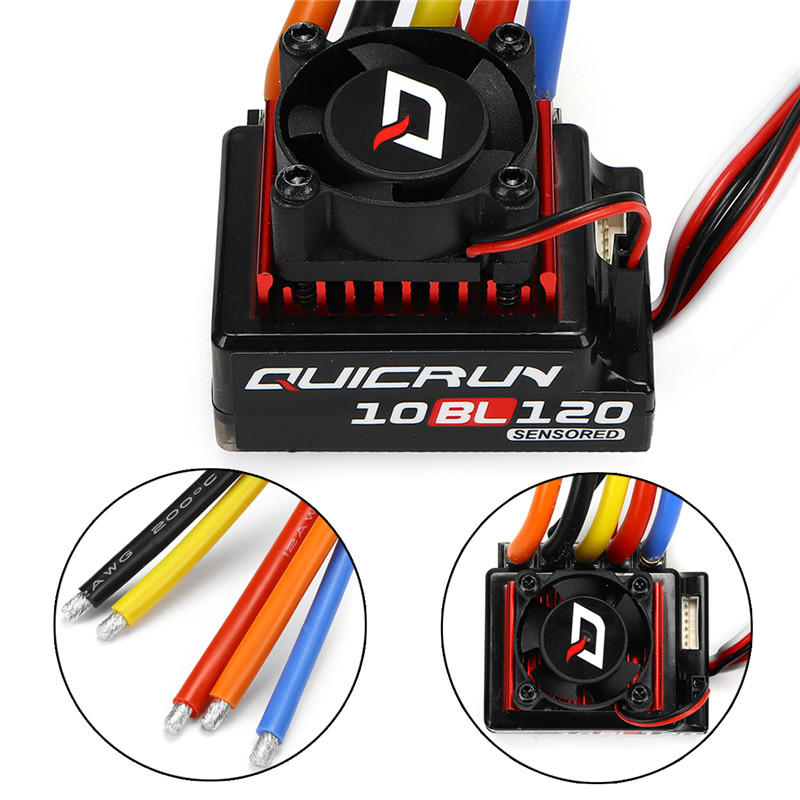 Hobbywing QuicRun 120A ESC Brushless 1/10 Sensored RC Cars Touring #10BL120  Parts
