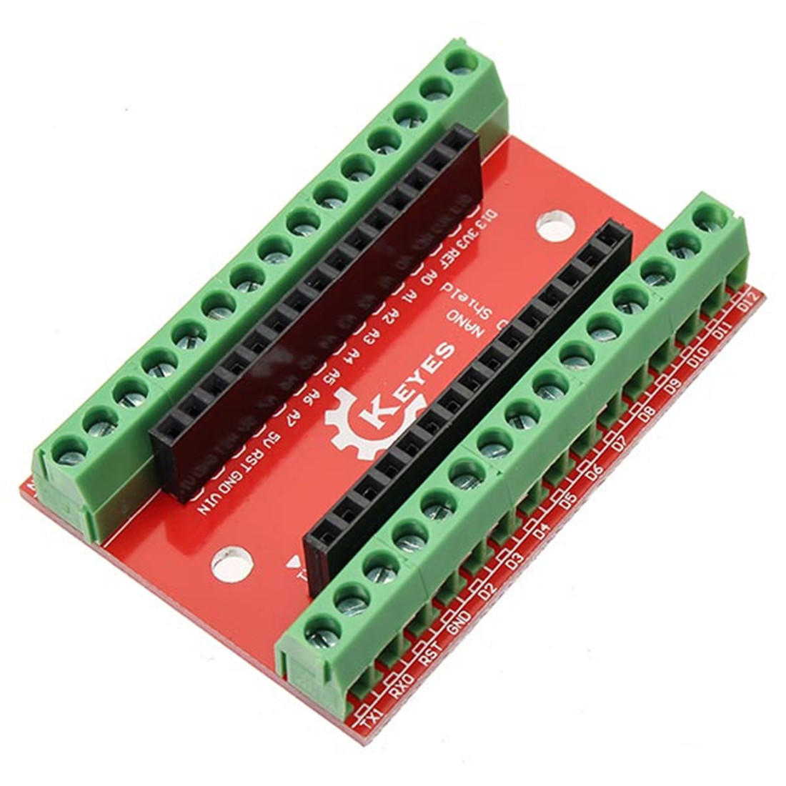 5pcs NANO IO Shield Expansion Board Geekcreit for Arduino - products that work with official Arduino boards