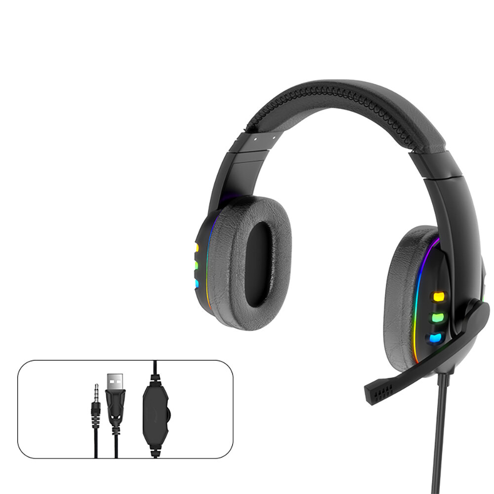 AK 47 Gaming Headset 7.1Virtual Surround Sound 40mm Driver Unit Brilliant RGB LED Light Noise Reduction Mic for PS3/4 PC