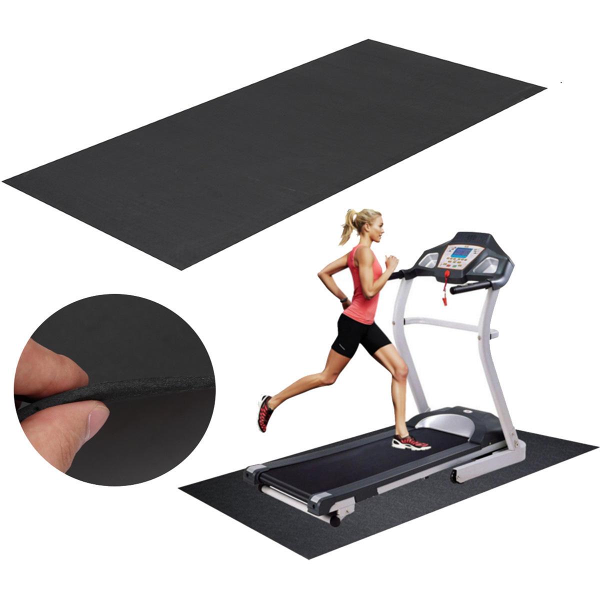 150x75cm Black Treadmill Mat Outdoor Sports Fitness Yoga Mats Running Machine Pad