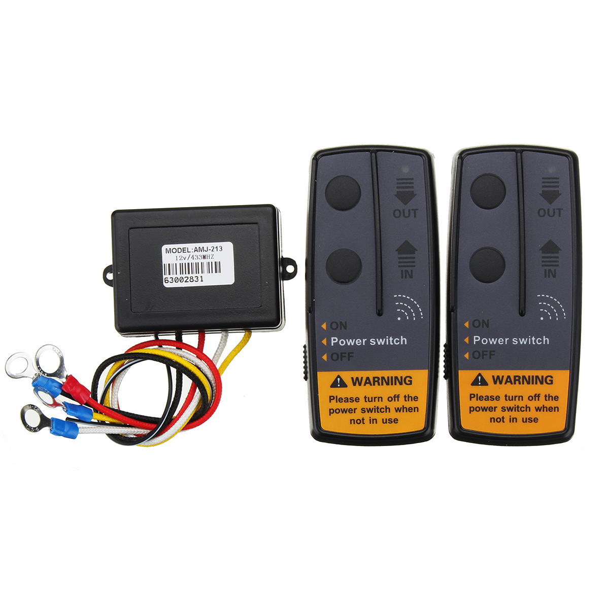 2.4G 12V Digital Wireless Winch Remote Control Recovery Kit For Jeep SUV