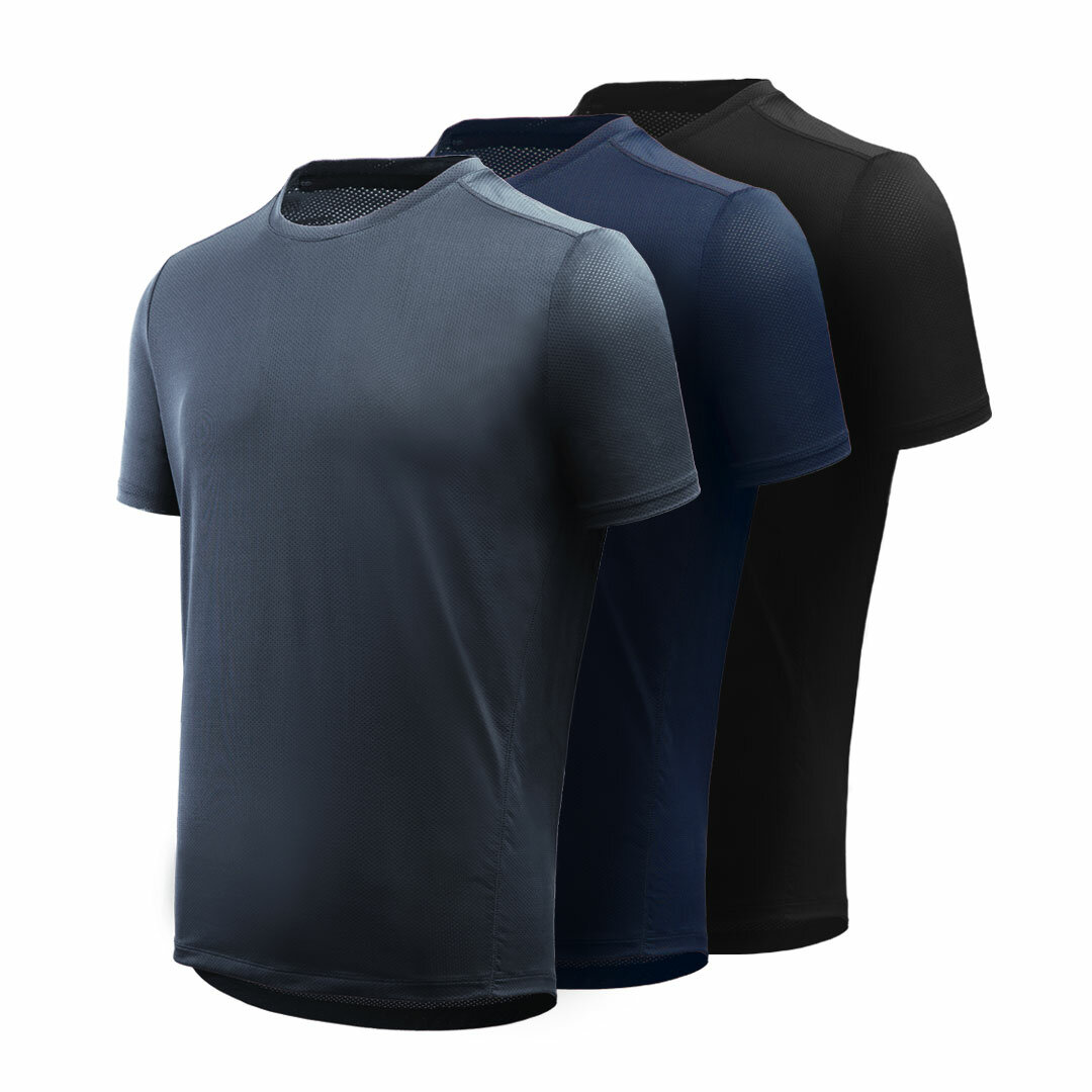 Giavnvay Men's Icy Sports T-Shirt Quick-Drying Ultra-thin Smooth Fitness Running T-Shirts From Xiaomi Youpin