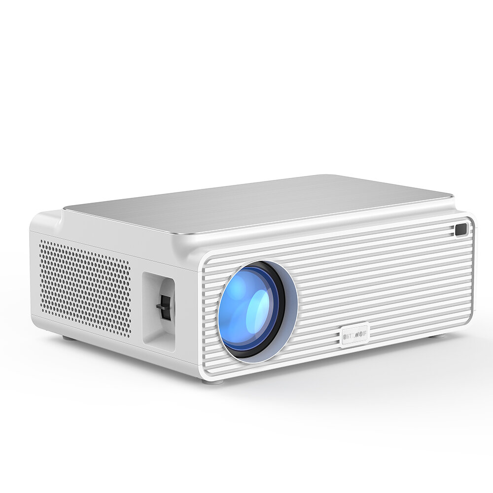 Blitzwolf® BW_VP3 Projector 6500 Lumens Android 8.0 Version 1+16GB bluetooth 4.0 RJ45 LAN 4K Resolution Multiple Ports Built_in Speaker Smart Home Theater Projector