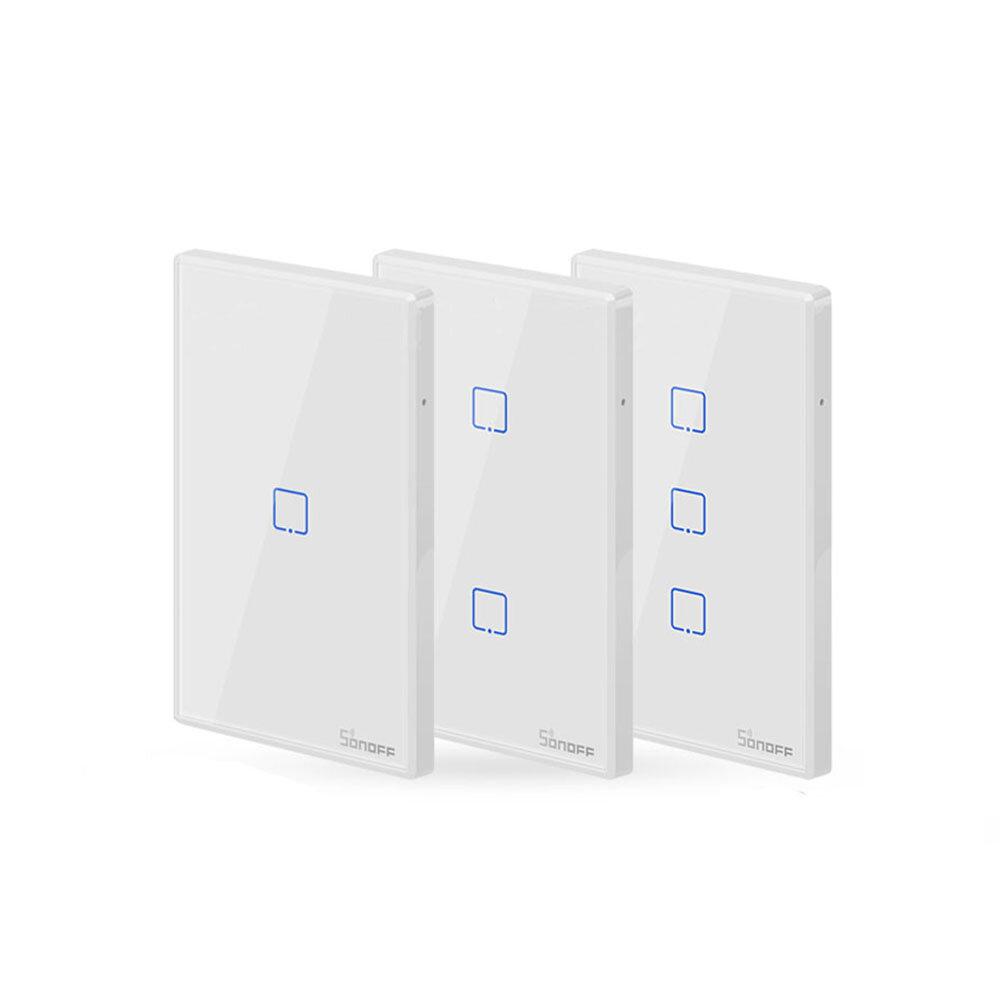 SONOFF® T2 האיחוד האירופי / US / בריטניה AC 100-240V 1/2/3 Gang TX סדרה 433Mhz WIFI קיר Switch RF חכם Smart Wall Switch עבור עבודה בית חכם עם Alexa Google דף הבית