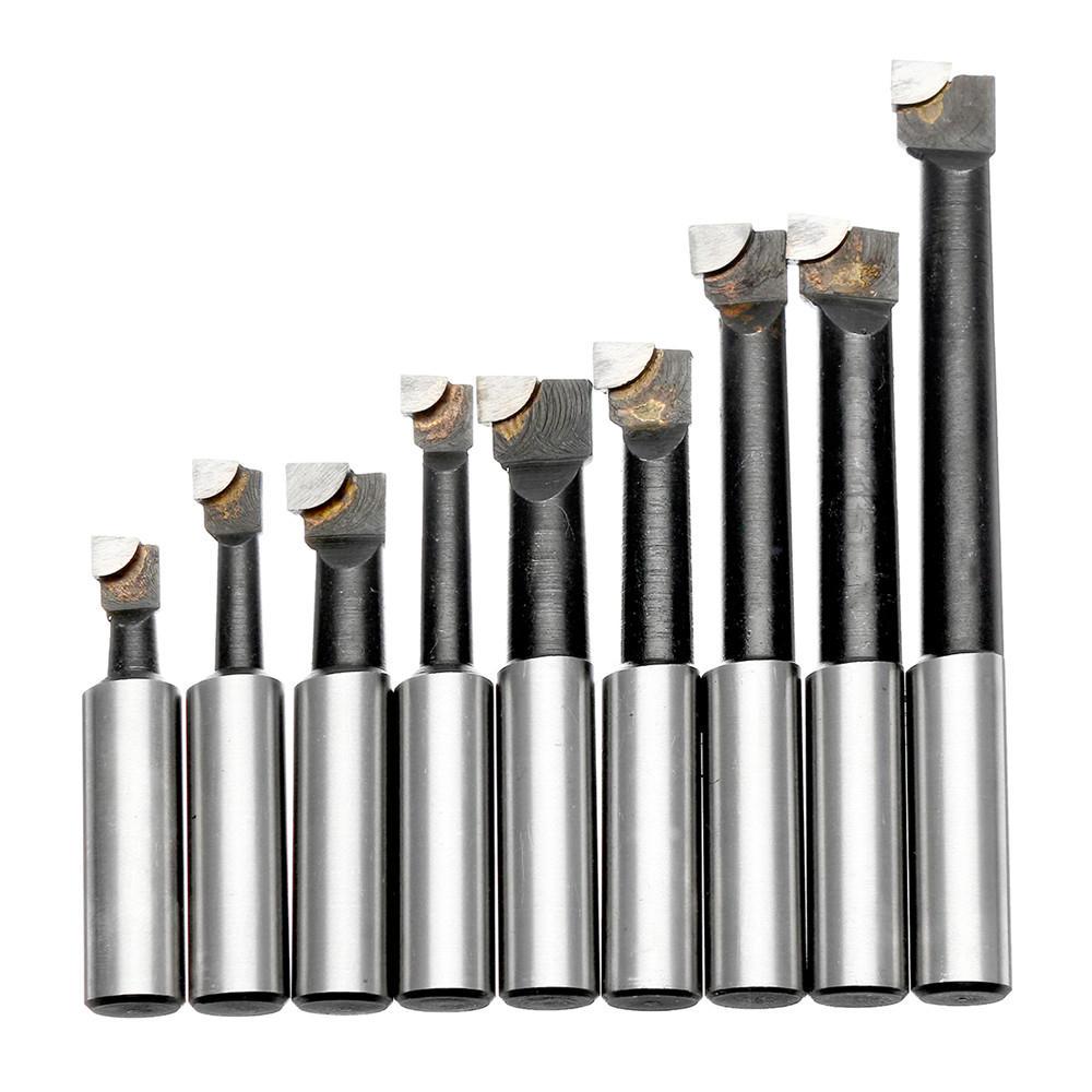 9Pcs Alloy 12mm Shank Boring Bars Set for 2 inch 50mm Boring Head Lathe Milling