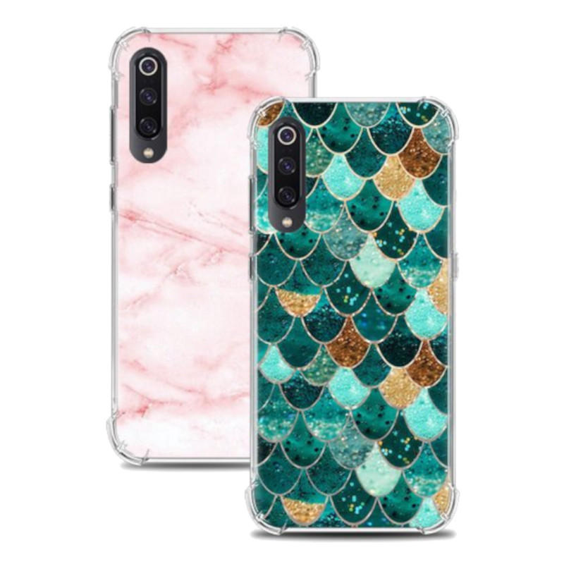 """Bakeey Shockproof Air Cushion Corner Soft TPU Colorful Protective Case for Xiaomi Mi9 / Mi 9 Transparent Edition (6.39"""")"""