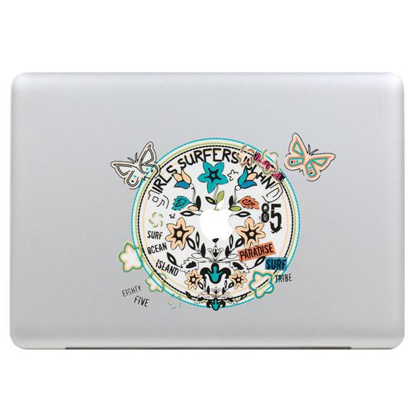 Bướm Vòng hoa Decal Vinyl Sticker Skin Shell Trang trí Máy tính xách tay Sticker Decal cho Apple MacBook