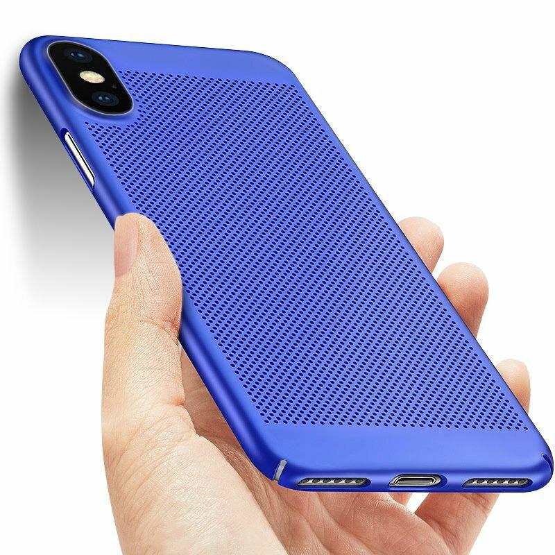 Mesh Heat Dissipation Anti Fingerprint Hard PC Protective Case For iPhone X