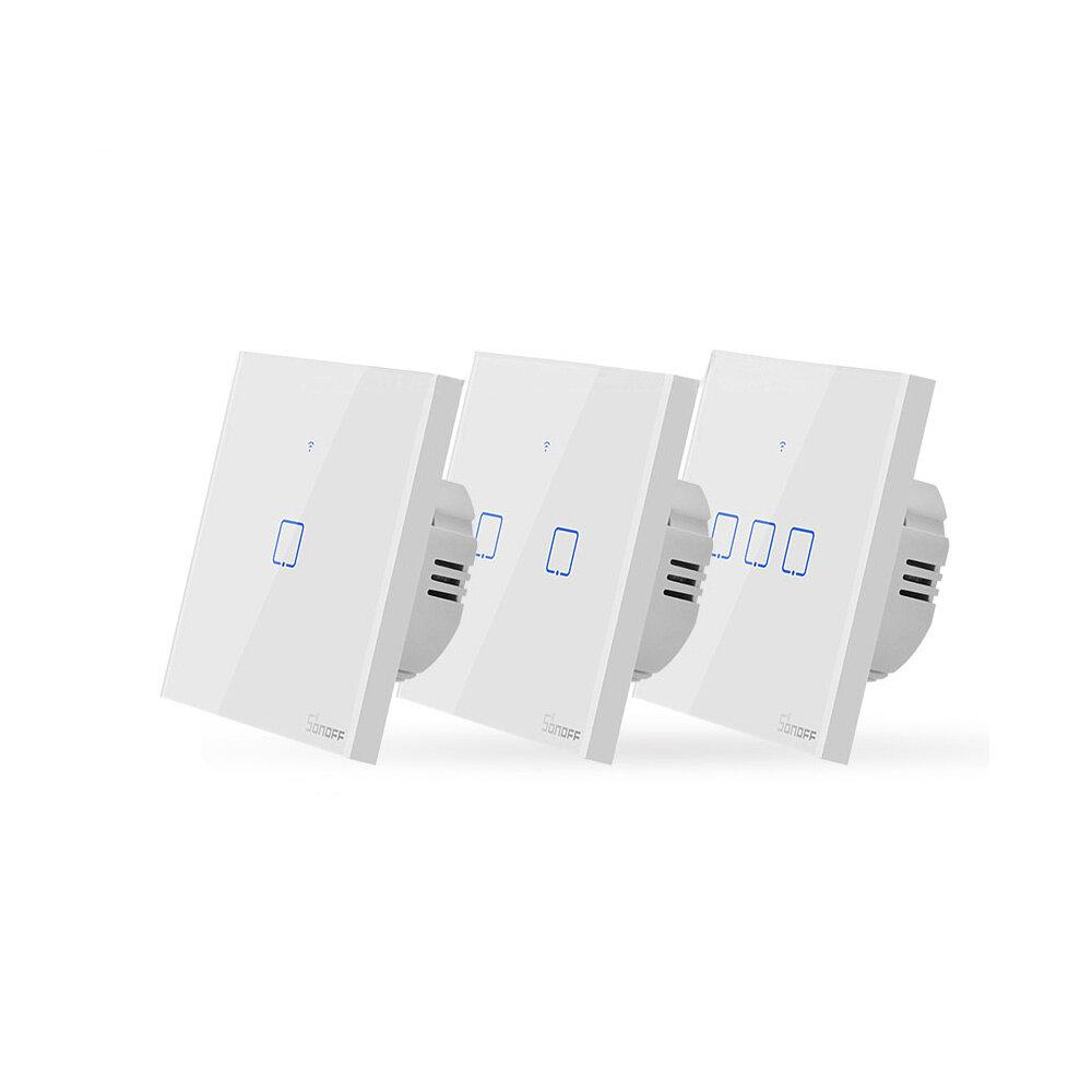 SONOFF® T0 AB / US / İNGILTERE AC 100-240 V 1/2/3 Gang TX Serisi WIFI Duvar Anahtarı Akıllı Duvar Dokunmatik Işık ...