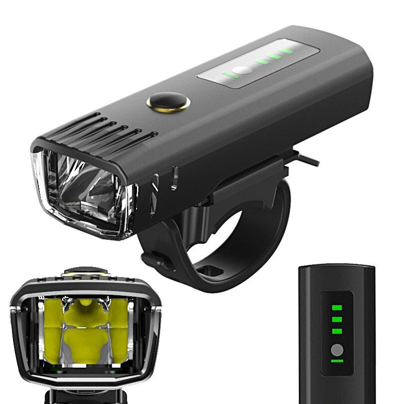 XANES SFL12 650LM LED Jerman Standar Pintar Cahaya Sensor Gunung Sepeda Jalan Sepeda Cahaya Anti-silau Desain USB Isi Ulang tahan air