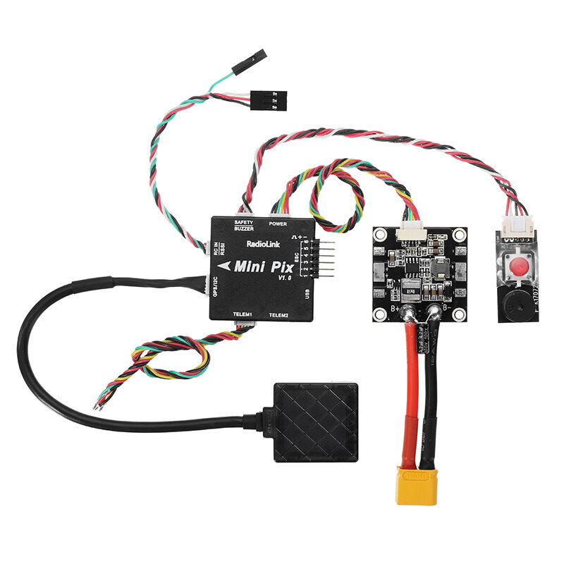 Radiolink Mini PIX F4 Flight Controller MPU6500 w/ TS100 M8N GPS UBX-M8030 For RC Drone FPV Racing