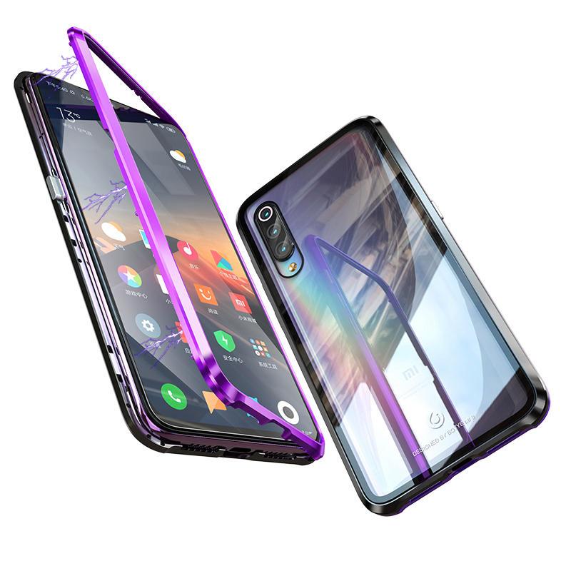 Bakeey Versión mejorada 360º Cuerpo completo Vidrio templado Metal Magnético Adsorción Flip Protective Caso Para Xiaomi Mi 9 / Xiaomi Mi9 Edición transparente