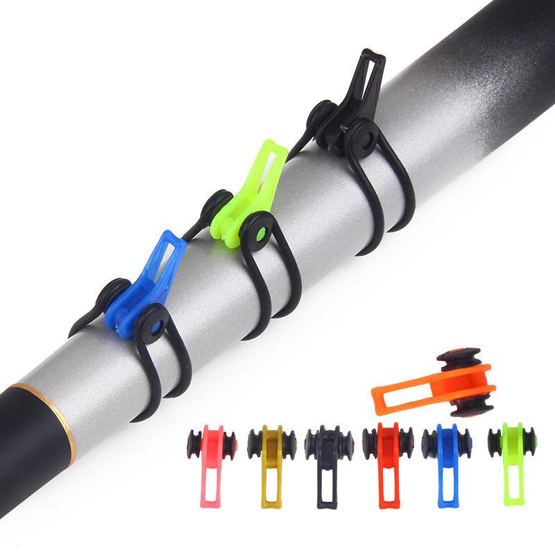 ZANLURE 10pcs/set 1.7cm Fishing Rod Hook Keeper Holder For Fishing Rods Hanging Bait Hook Fishing Tool