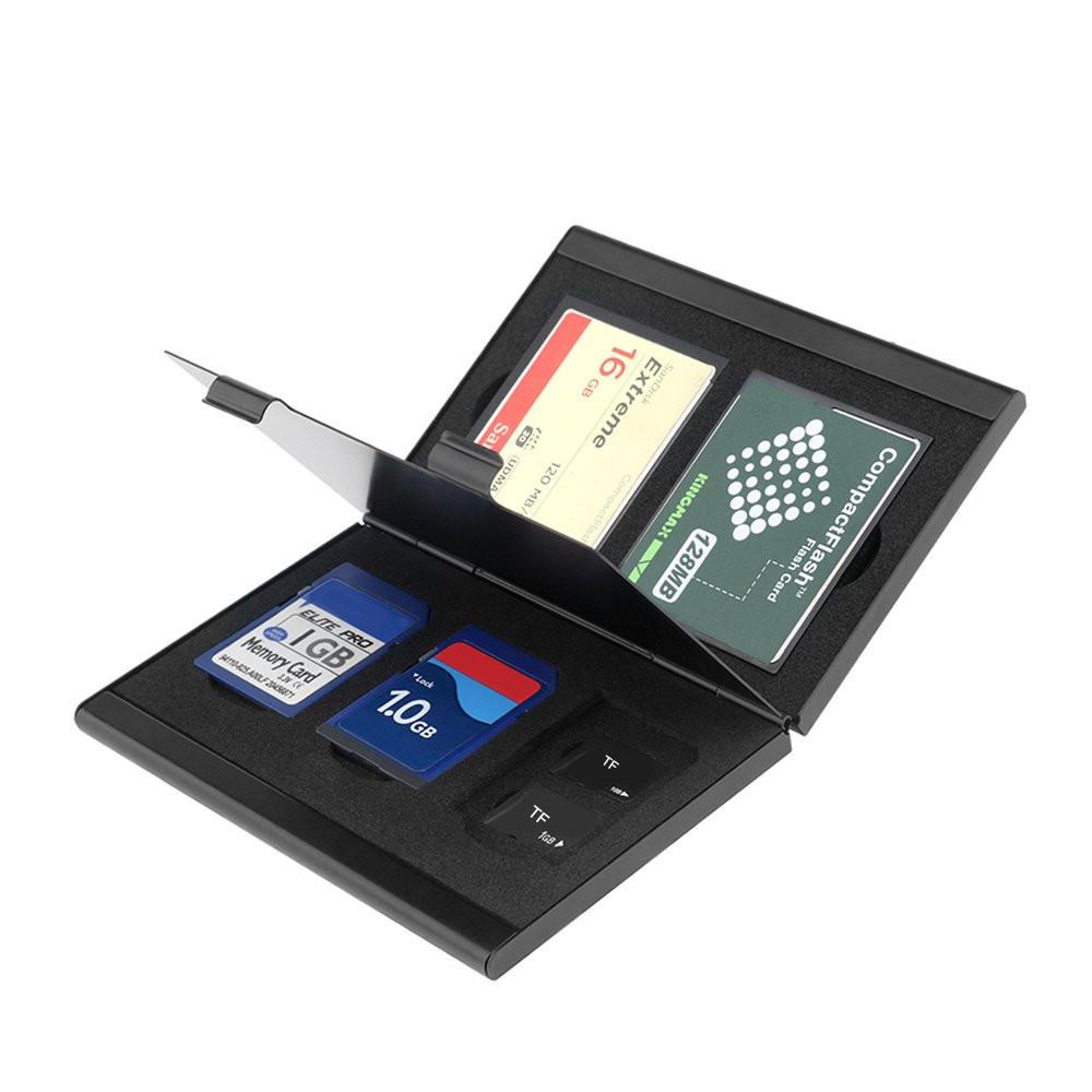 Rocketek Metal TF Tarjeta de memoria Colección Ranura Adaptador de tarjeta Organizado Almacenamiento de gestión Caja