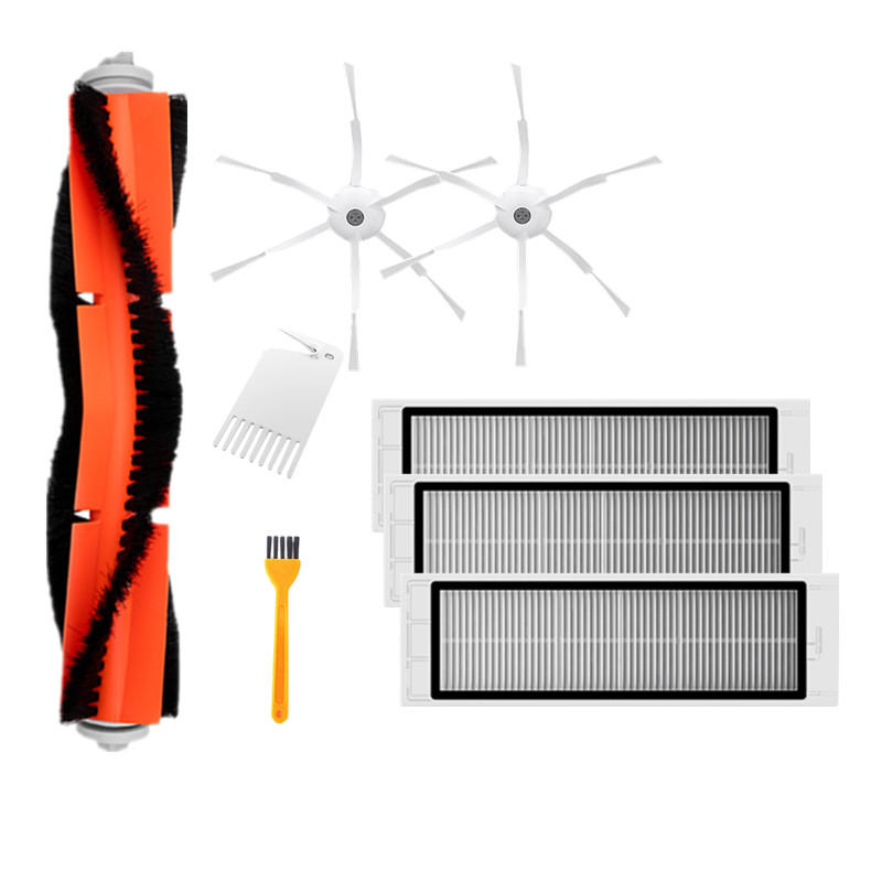 8PCS Main Side Brush HEPA Filter Cleaning Tool Replacements for Xiaomi Roborock Xiaowa Vacuum Cleaner
