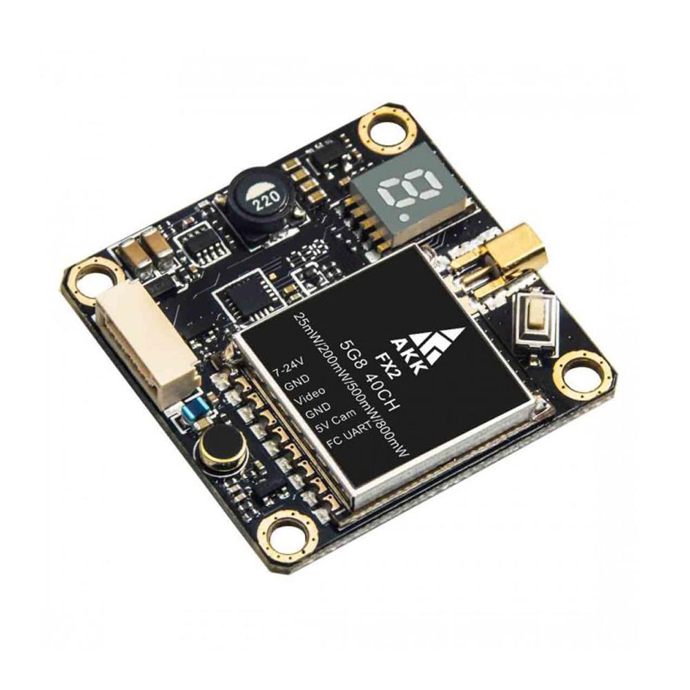 AKK FX2 5.8Ghz 40CH 25mW/200mW/500mW/800mW Switchable FPV Transmitter Support OSD