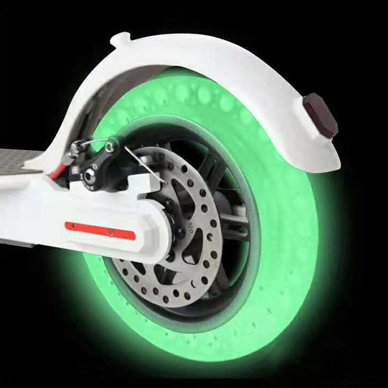 BIKIGHT 8.5inch Fluorescent Shock Absorption Solid Wheels Tubeless For Xiaomi M365 Electric Scooter