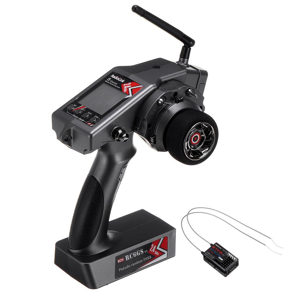 Радиолинк RC6GS V2 2.4G 6CH передатчик + R7FG гироскоп внутри Приемник для автомобилей RC Авто Лодка Модель запчасти