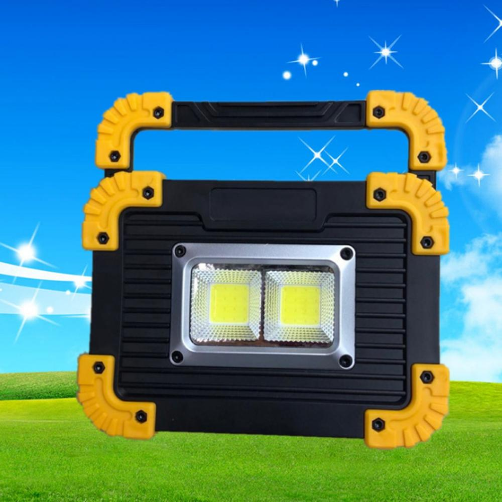 Portable 20W Dual COB LED USB Rechargeable LED Camping Work Flood Light Outdoor Searchlight