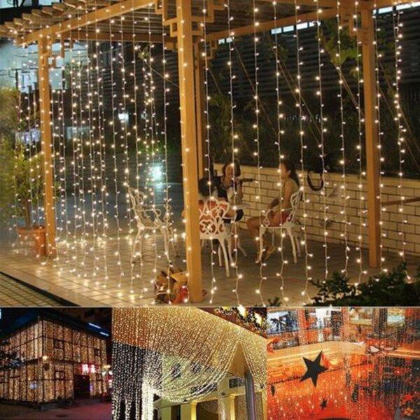 Christmas light 3mx3m 300 LED String Lights Curtain Lights 220V