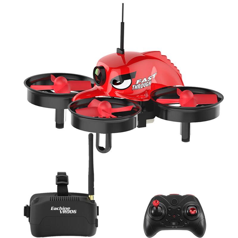 Eachine E013 माइक्रो एफपीवी आरसी ड्रोन क्वाडकॉप्टर 5.8G 1000TVL 40CH कैमरा VR006 VR-006 3 इंच गॉगल्स के साथ