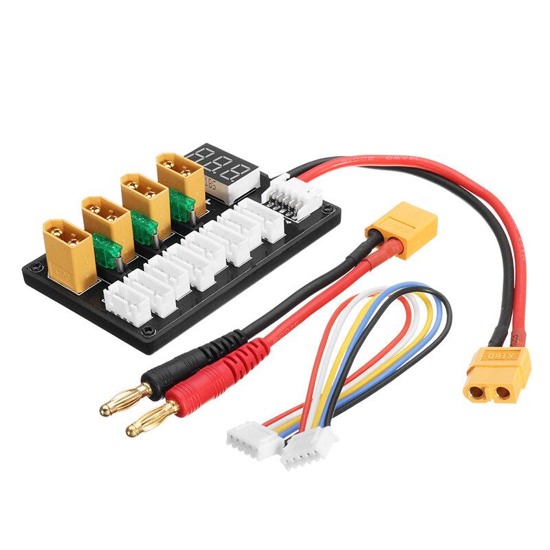 4CH समानांतर चार्जिंग बोर्ड XT60 Banana Plug ISDT D2 Q6 T6 Lite इमैक्स B6 चार्जर के लिए