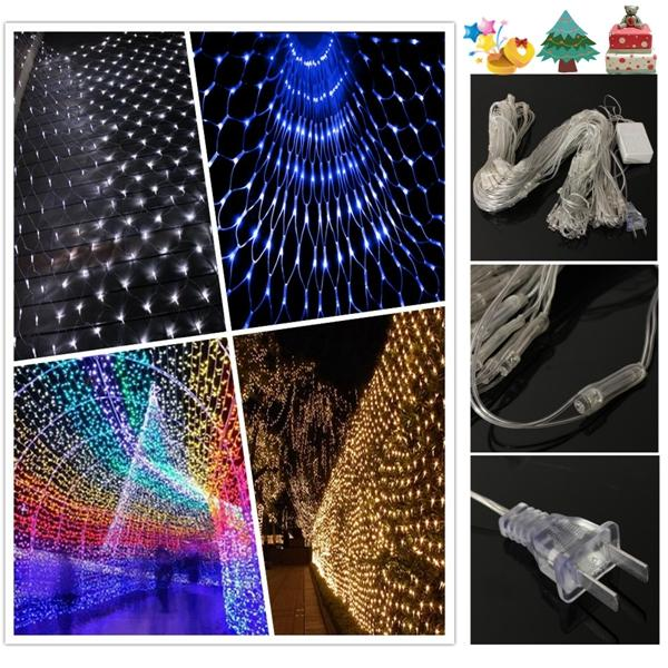 3X 2M 210 LEDs Christmas Wedding Party Curtain Window Fairy Net Light US Plug AC110V