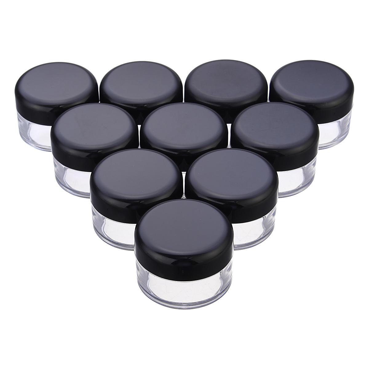 30de92d39368 LuckyFine 10pcs Transparent Empty Eye Cream Jar Cosmetic Plastic Bottle  Travel Makeup Container