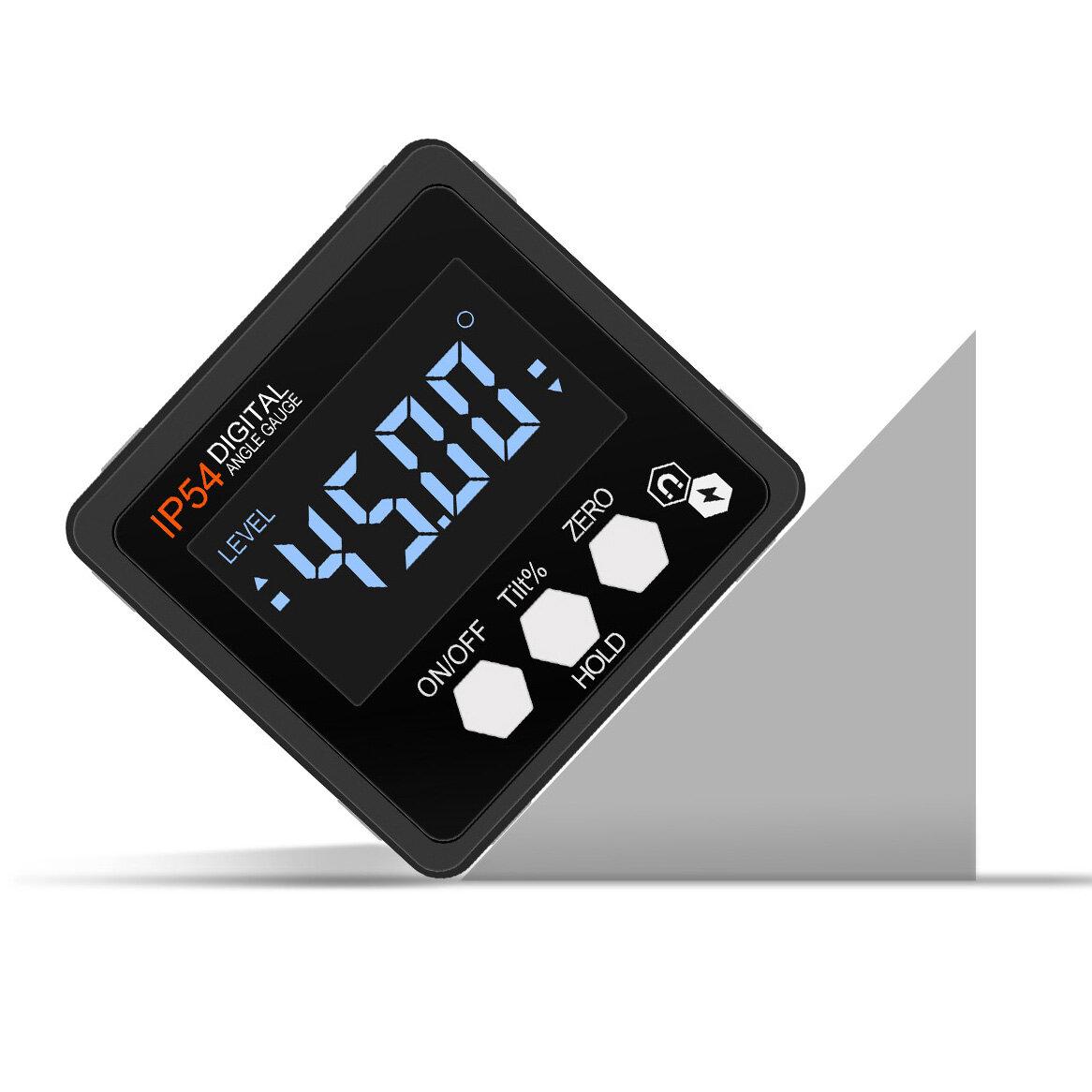 ETOPOO 4 * 90 ° محدث الدقة رقمي صندوق مستوى المنقلة رقمي زاوية مكتشف شطبة مع قاعدة مغناطيسية