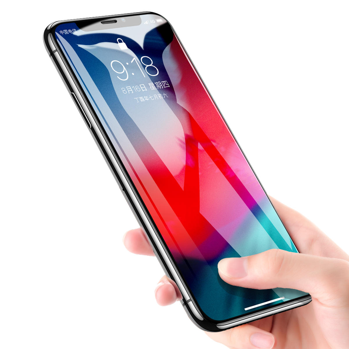 ce9586cf944667 Rock 9D Curved Edge Tempered Glass Screen Protector For iPhone XS Max  Fingerprint Resistant Film COD