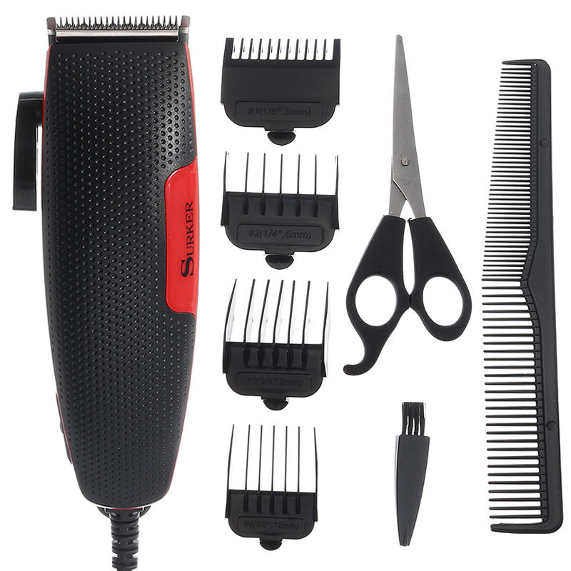SURKER Electric Hair Clipper Trimmer Barber Styling Tools Cutting Scissors Household Comb Brush