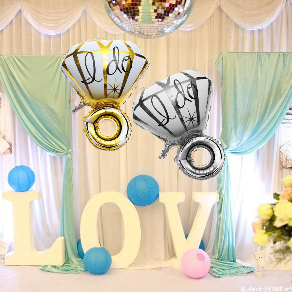 Big Diamon Ring Aluminium Balloon Balloon I DO Balloon Propose Valentine Wedding Party Trang trí