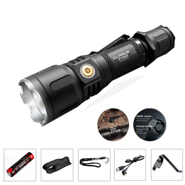 Klarus XT12S XHP35 HI D4 1600Lumens Magnetic Charging Tactical LED Flashlight