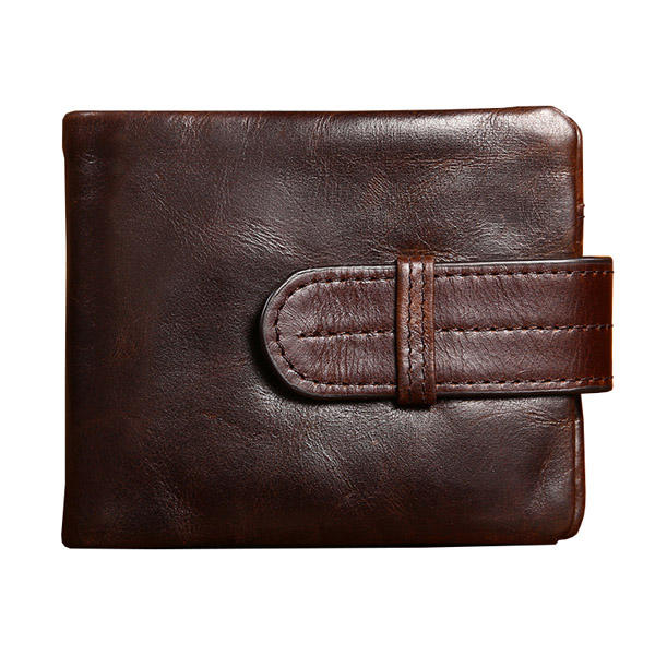 Men Genuine Leather Wallet Card Holder Pocket Vintage Short Design Purse